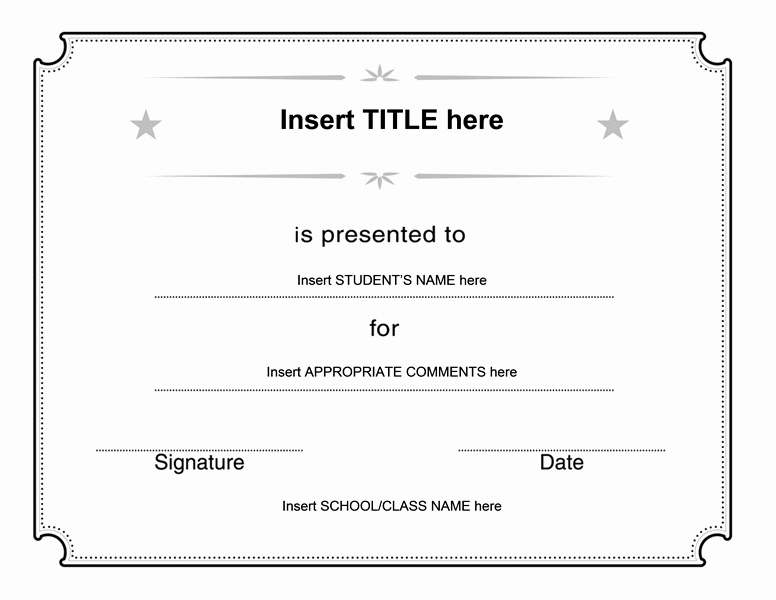 Generic Gift Certificate Template Free Luxury Generic Certificate Free Certificate Templates In