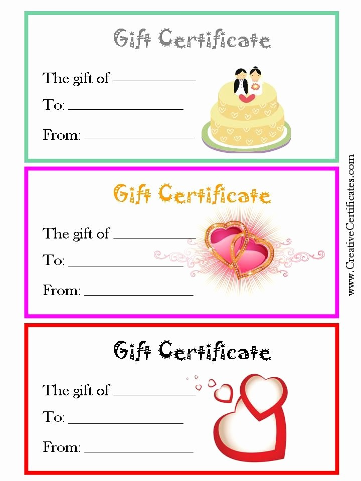 Generic Gift Certificate Template Free New 30 Best Gift Certificates Images On Pinterest