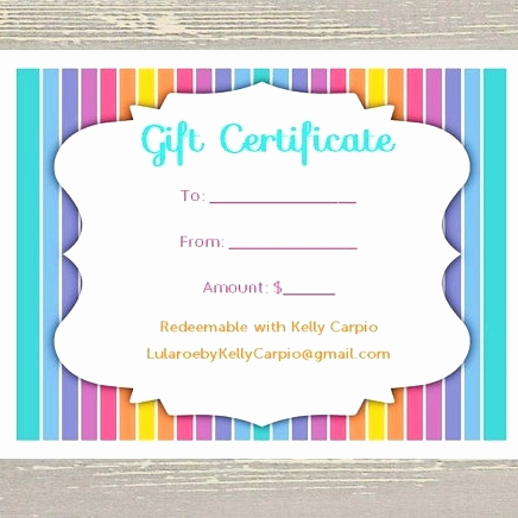 Generic Gift Certificate Template Free New Template Pages Certificate Template