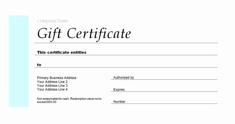 Generic Gift Certificate Template Free Unique 173 Free Gift Certificate Templates You Can Customize
