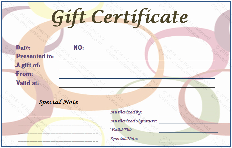 Generic Gift Certificate Template Free Unique Generic Gift Certificate Gift Ftempo