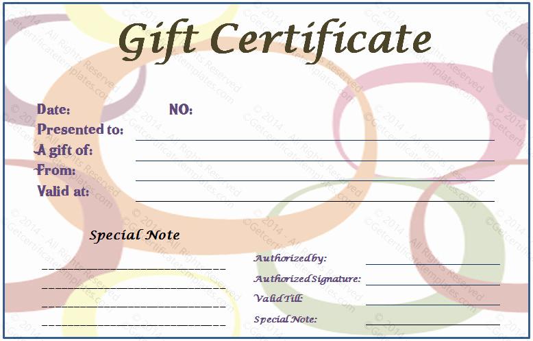 Generic Gift Certificate Template Free Unique Generic Gift Certificate Gift Ftempo