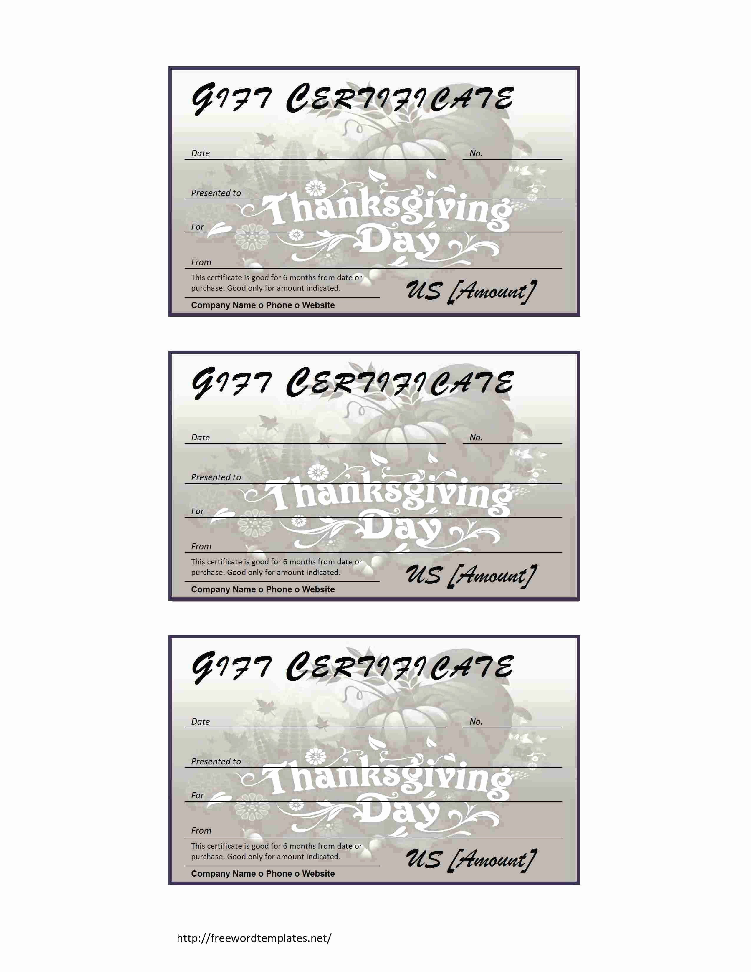 Generic Gift Certificates Print Free Awesome Template Generic Gift Certificate Template