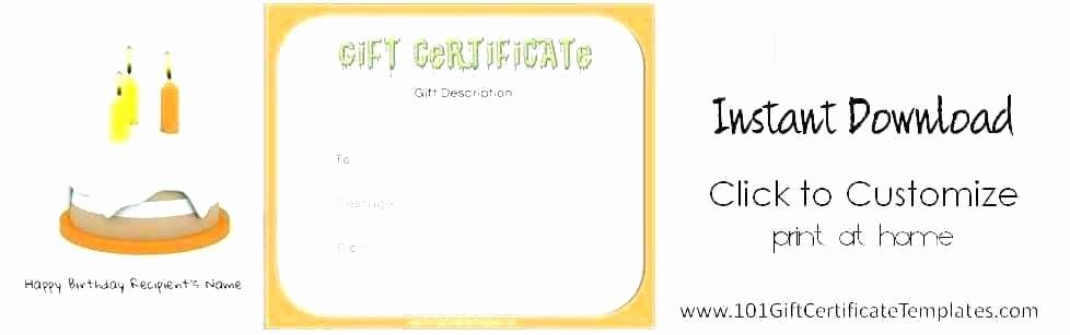 Generic Gift Certificates Print Free Beautiful Generic Gift Certificate Template Free Printable Gift