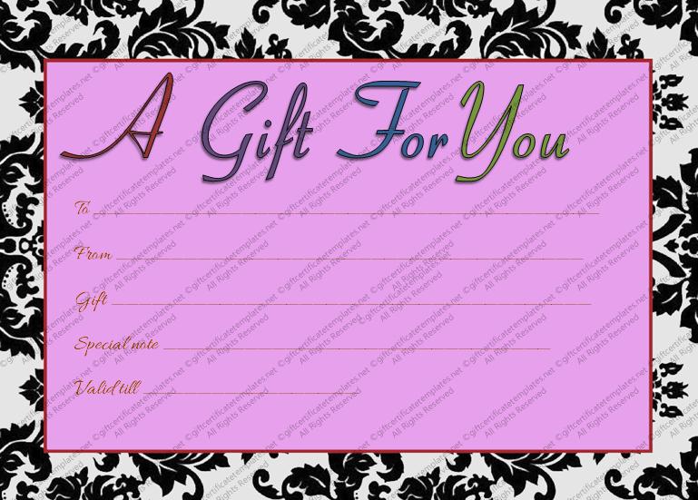Generic Gift Certificates Print Free Best Of Printable Purple Generic Gift Certificate Template