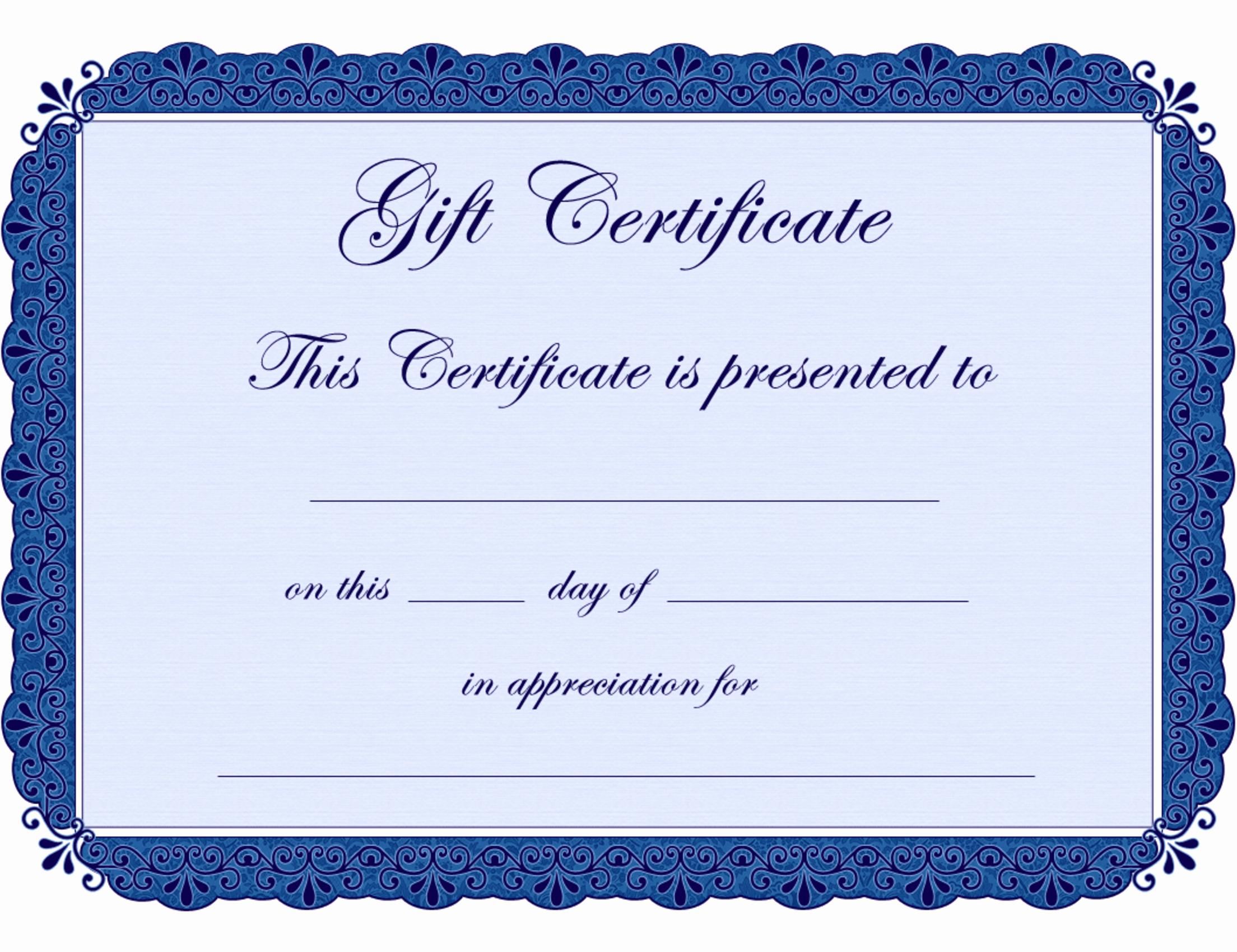 Generic Gift Certificates Print Free Elegant Printable Gift Certificates Clipart Clipart Suggest