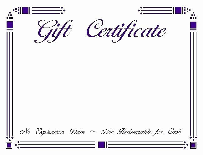 Generic Gift Certificates Print Free Inspirational Kids Gift Certificate Template Colorful Printable Generic
