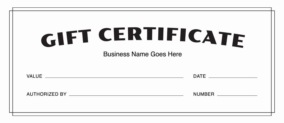 Generic Gift Certificates Print Free Luxury Gift Certificate Templates Download Free Gift