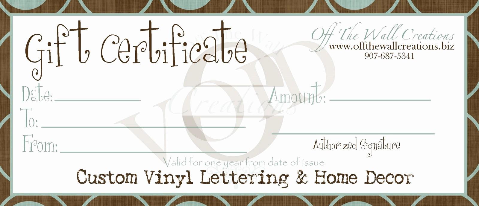 Generic Gift Certificates Print Free Luxury Printable Generic Gift Certificates