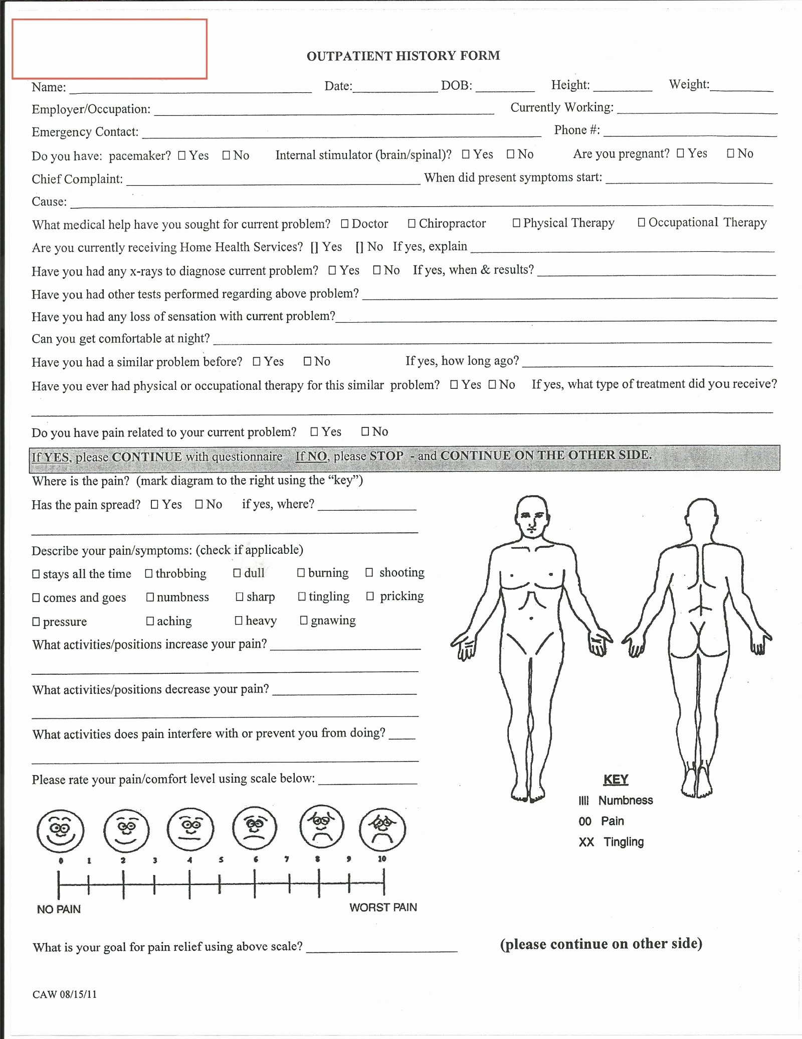 Generic History and Physical form Inspirational Printable Head to toe assessment form Fine Physical