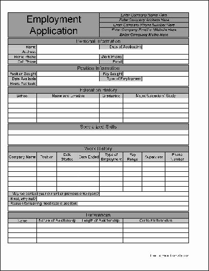 Generic Job Application Fillable Pdf New Free Personalized Job Application From formville