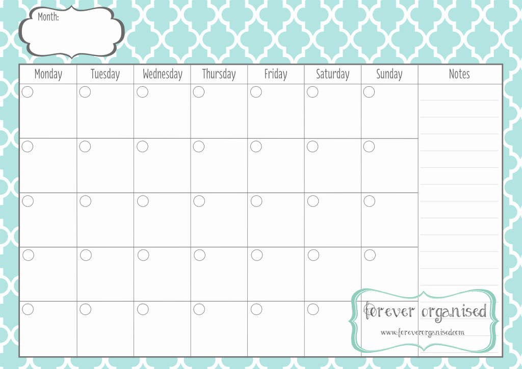 Generic Monthly Calendar Template Word Awesome Print Out Monthly Calendar Calendar Template 2018