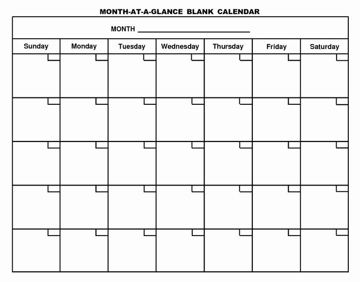 Generic Monthly Calendar Template Word Beautiful Printable Blank Calendar Template … organizing