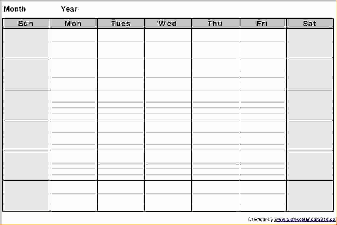 generic printable calendar