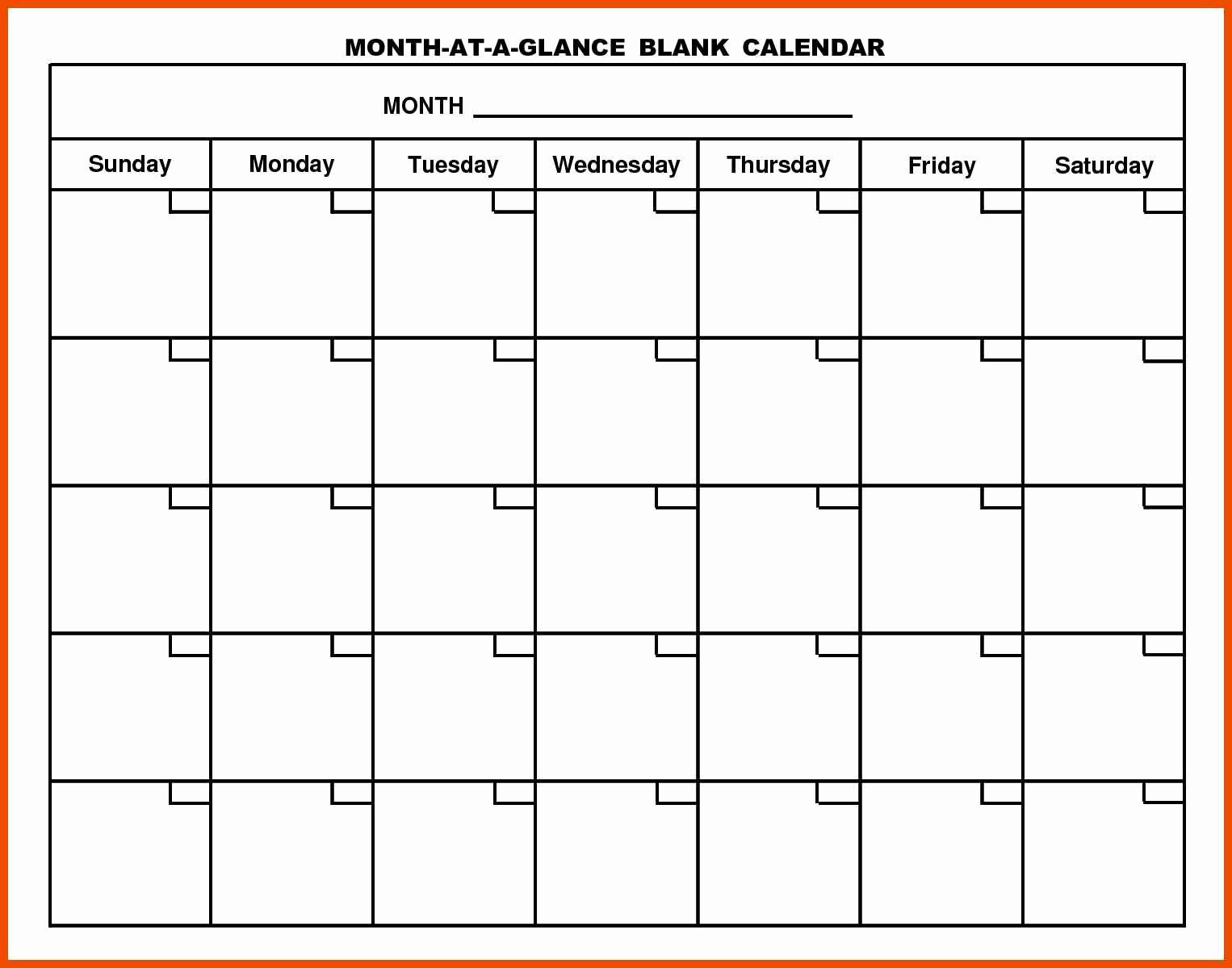 Generic Monthly Calendar Template Word Inspirational 8 9 Generic Calendar