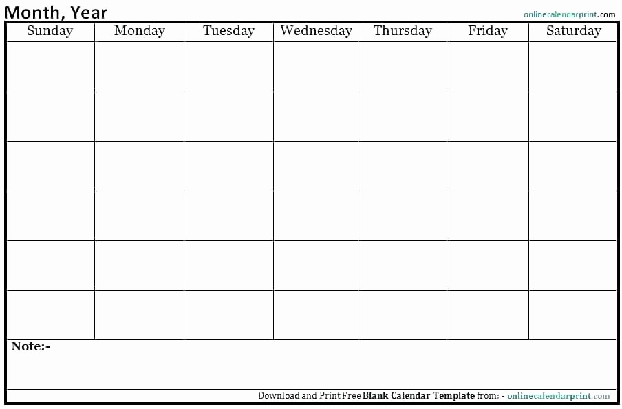 Generic Monthly Calendar Template Word Inspirational Blank Monthly Calendar Template Word Month Appointment