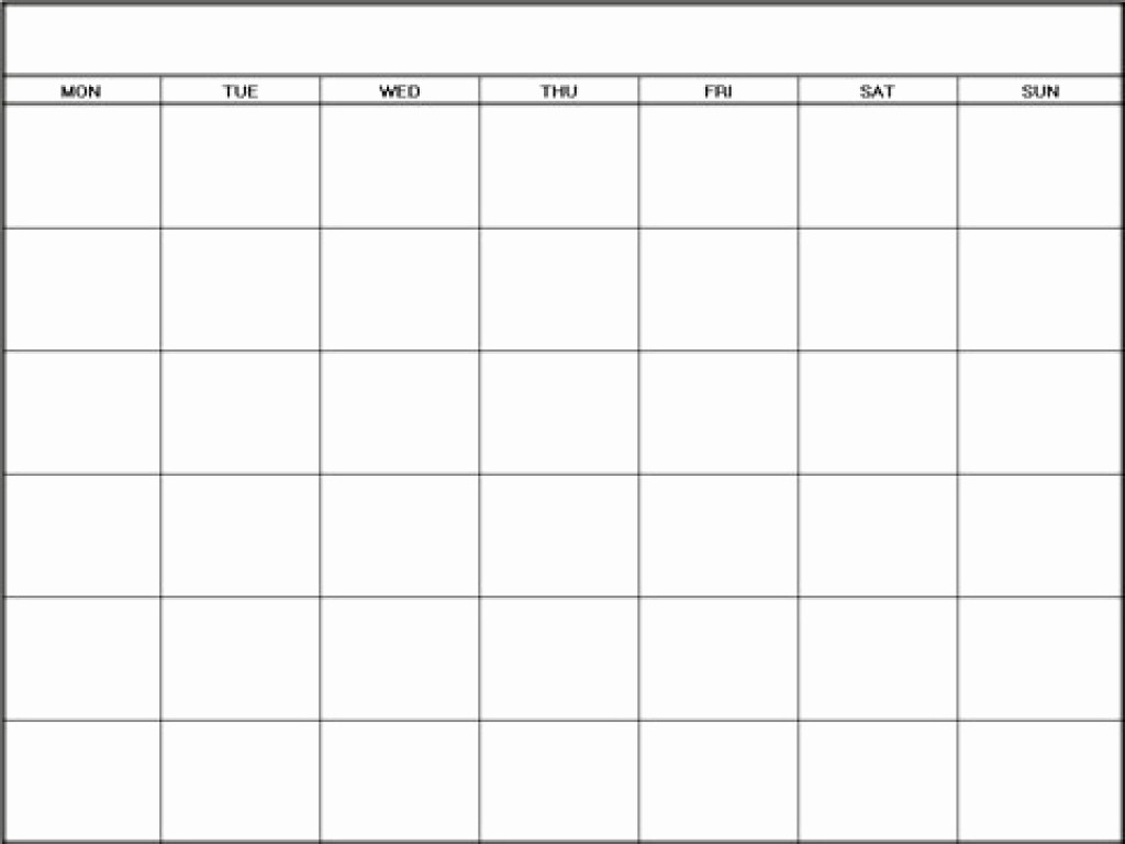 Generic Monthly Calendar Template Word Inspirational Free Printable Blank Monthly Calendars 2017 2018 2019