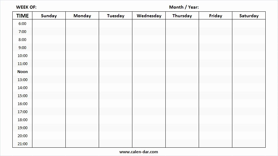 Generic Monthly Calendar Template Word Lovely Editable Weekly Calendar Template Blank Weekly Calendar