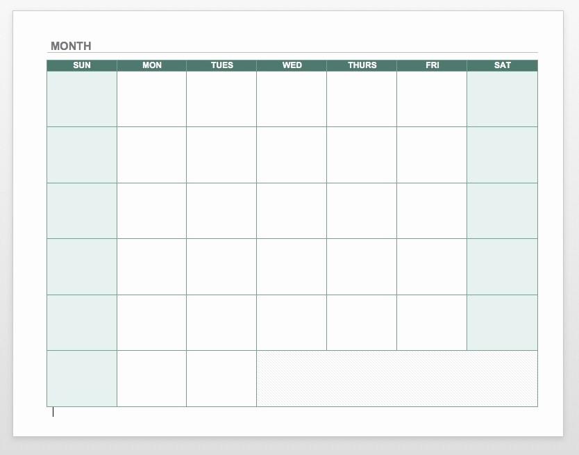Generic Monthly Calendar Template Word Luxury Blank Calendar 2018 Word Pdf Printable Templates