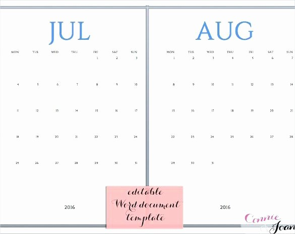 Generic Monthly Calendar Template Word Luxury Free Calendar Template Word Awesome Pin by Printable