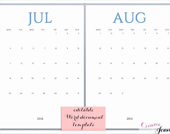 Generic Monthly Calendar Template Word Luxury Free Calendar Template Word Awesome Pin by Printable