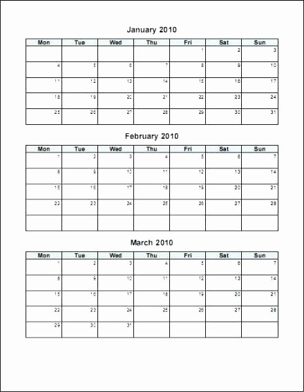 Generic Monthly Calendar Template Word New Calendar Template Fice Templates with Regard to Word