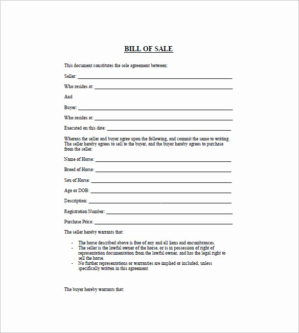 Generic Motorcycle Bill Of Sale Elegant Printable General Bill Sale
