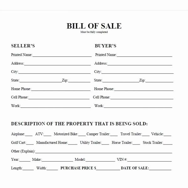 Generic Motorcycle Bill Of Sale Luxury Best S Of Easy Printable Bill Sale Free