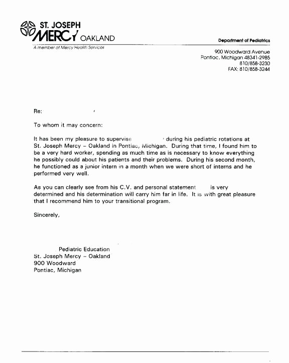 Generic Recommendation Letter for Student Awesome Generic Re Mendation Letter Template 3 Reference
