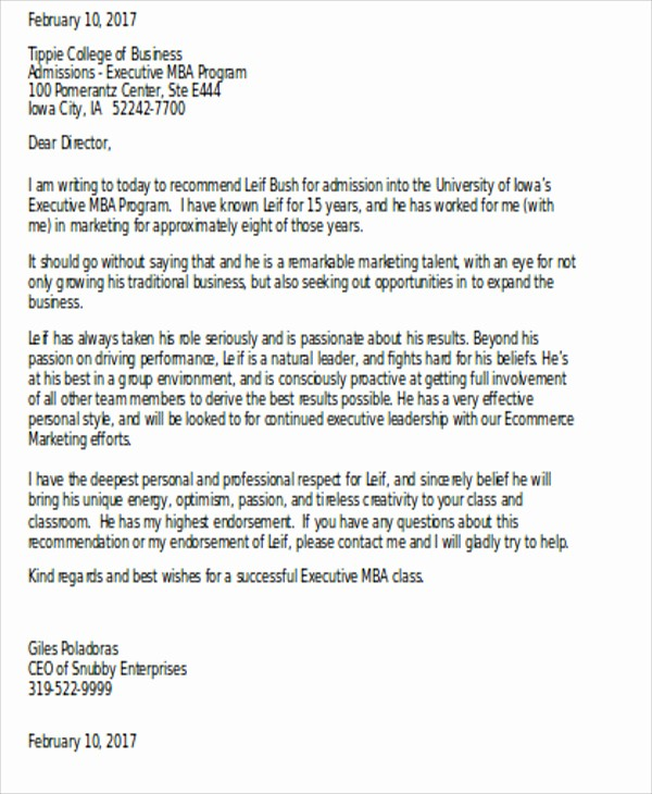 Generic Recommendation Letter for Student Lovely 7 Sample Generic Letter Of Re Mendation