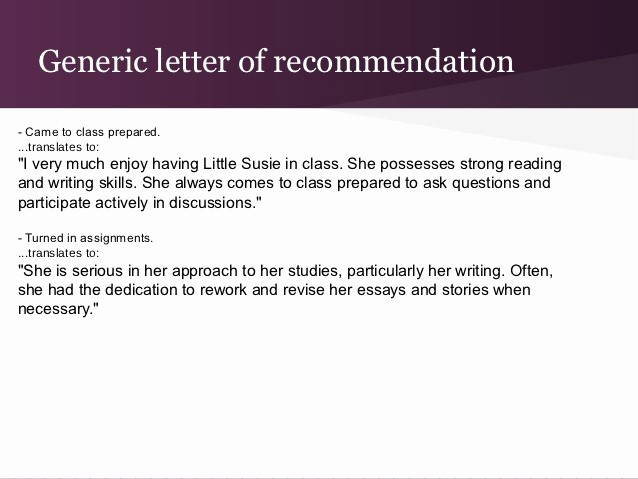 Generic Recommendation Letter for Student Unique College Re Mendation Letter Process