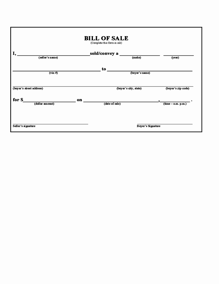 Georgia Automobile Bill Of Sale Awesome Bill Of Sale form Iowa Free Download