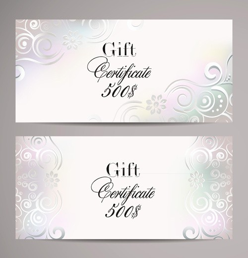Gift Card Template Free Download Awesome ornate T Certificates Template Vectors Free Vector In