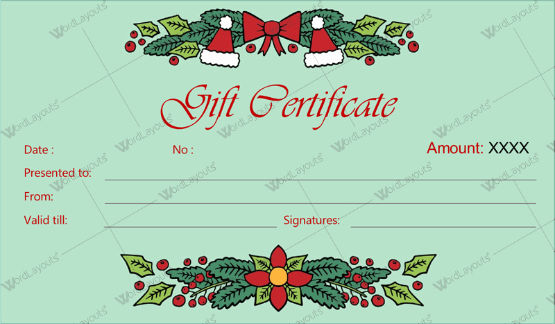 Gift Card Template Free Download Best Of 12 Beautiful Christmas Gift Certificate Templates for Word