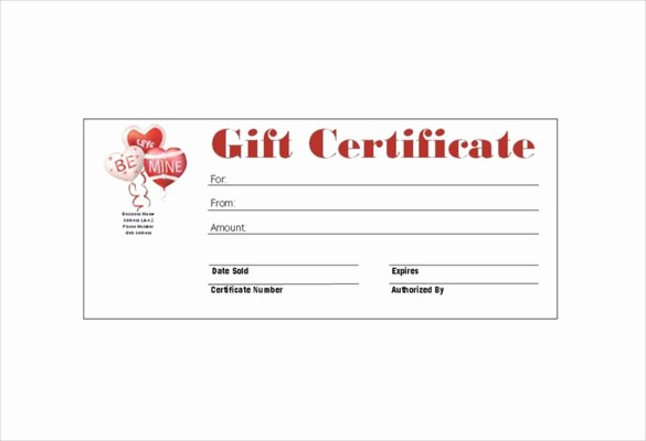 Gift Card Template Free Download Lovely 8 Homemade Gift Certificate Templates Doc Pdf