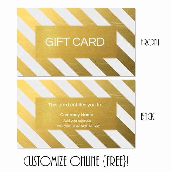 Gift Card Template Free Download Lovely Gift Card Template