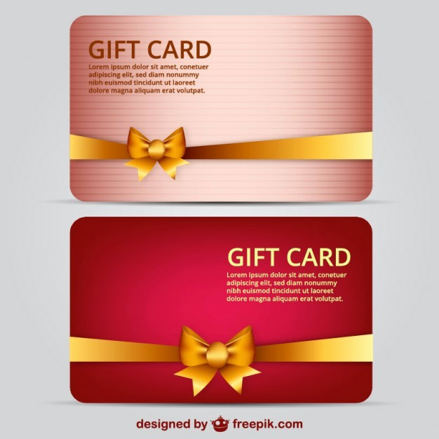 Gift Card Template Free Download Luxury Gift Card Template Vector