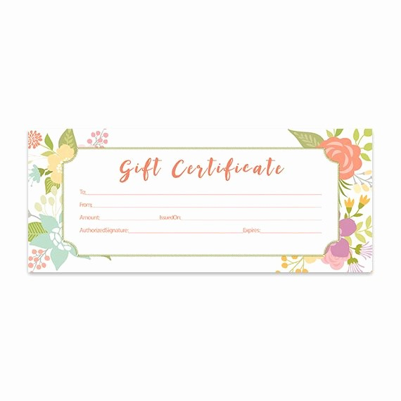 Gift Card Template Free Download New Floral Gift Certificate Download Flowers Premade Gift