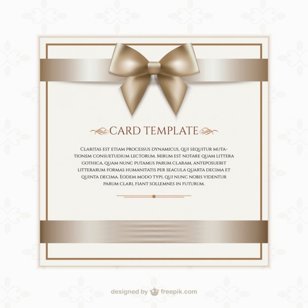 Gift Card Template Free Download Unique Gift Card Template Vector