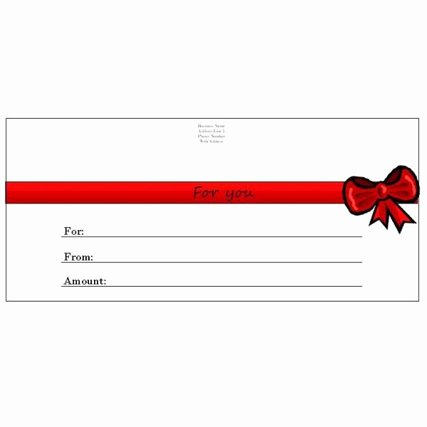 Gift Card Templates Free Printable Awesome 6 Free Printable Gift Certificate Templates for Ms Publisher