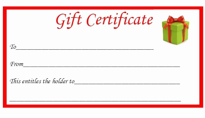 Gift Card Templates Free Printable Lovely Free Christmas Printable Gift Certificates the Diary