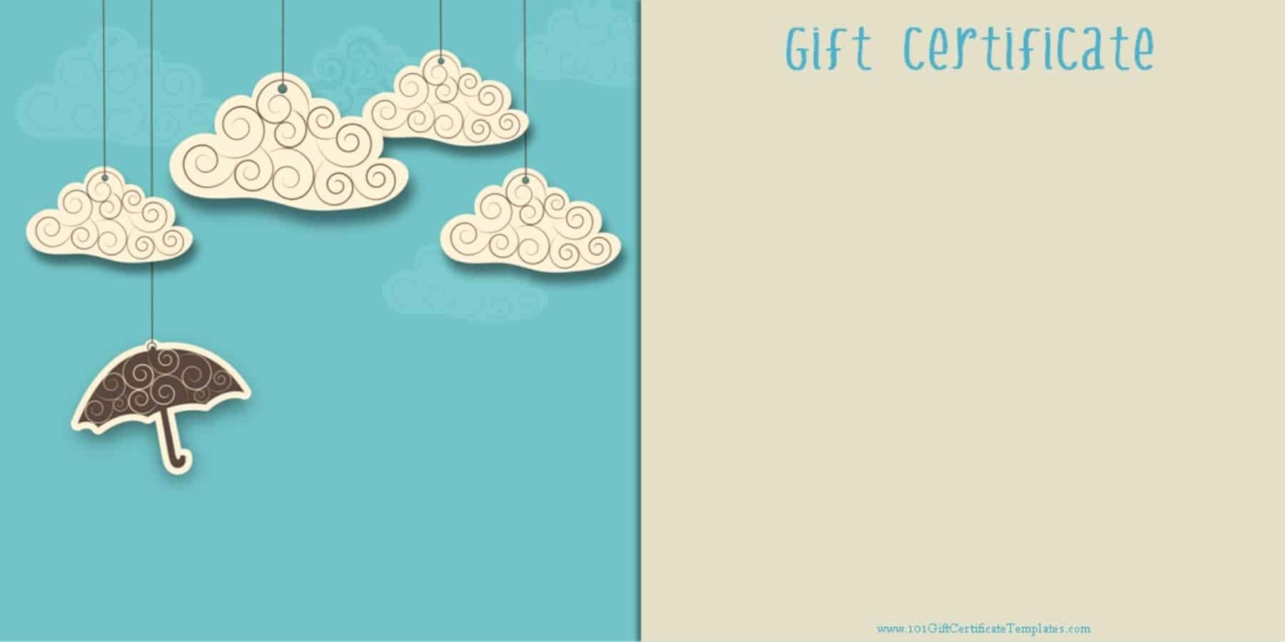 Gift Card Templates Free Printable Luxury Printable Gift Certificate Templates