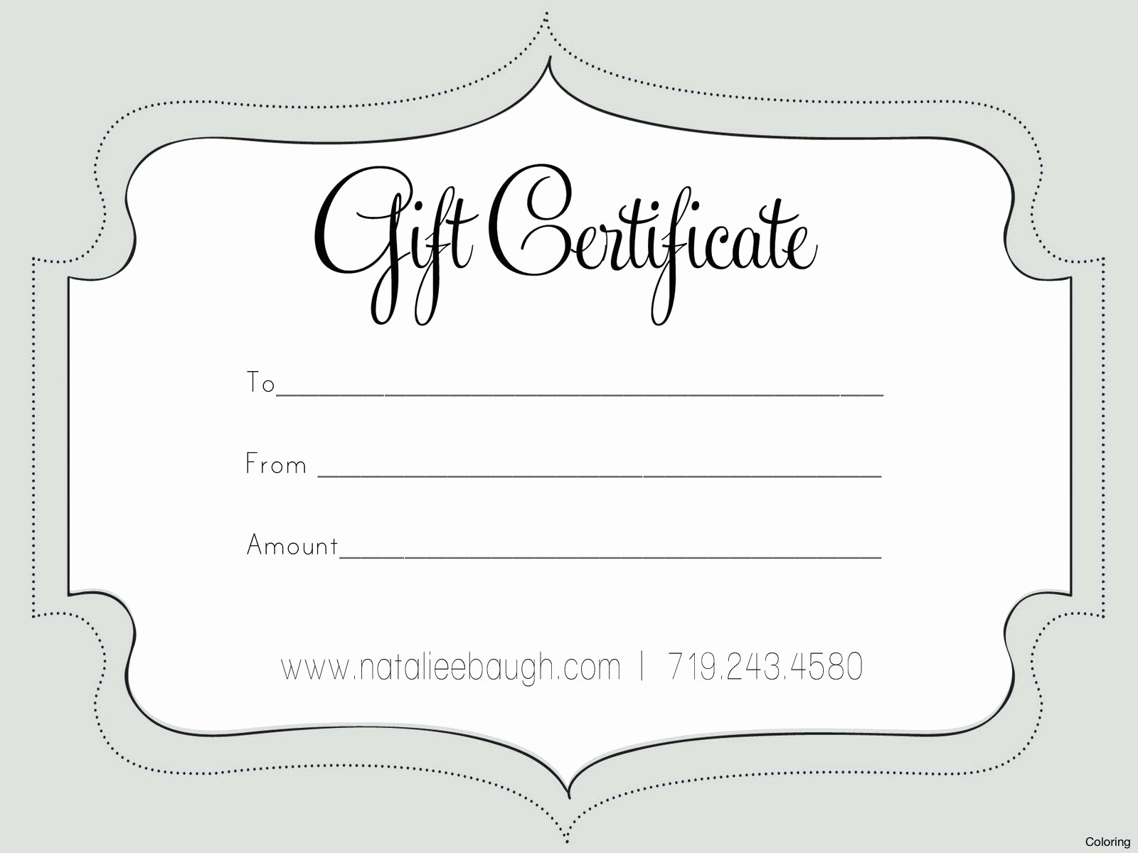 Gift Card Templates Free Printable New Template Nail Gift Certificate Template