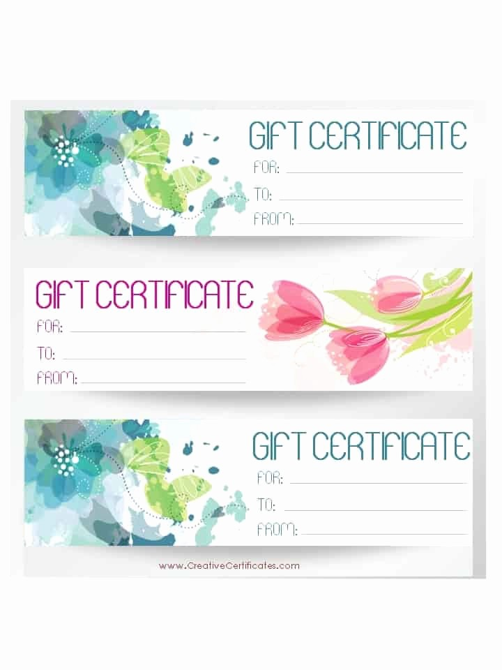 Gift Card Templates Free Printable Unique Free Gift Certificate Template
