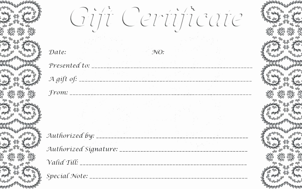 Gift Certificate Samples Free Templates Beautiful Template Birthday Gift Certificate Template Word