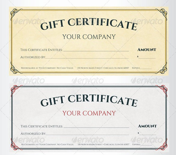 Gift Certificate Samples Free Templates Fresh Sample Gift Certificate Template 39 Documents Download