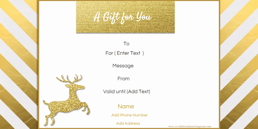 Gift Certificate Samples Free Templates Inspirational Free Editable Christmas Gift Certificate Template