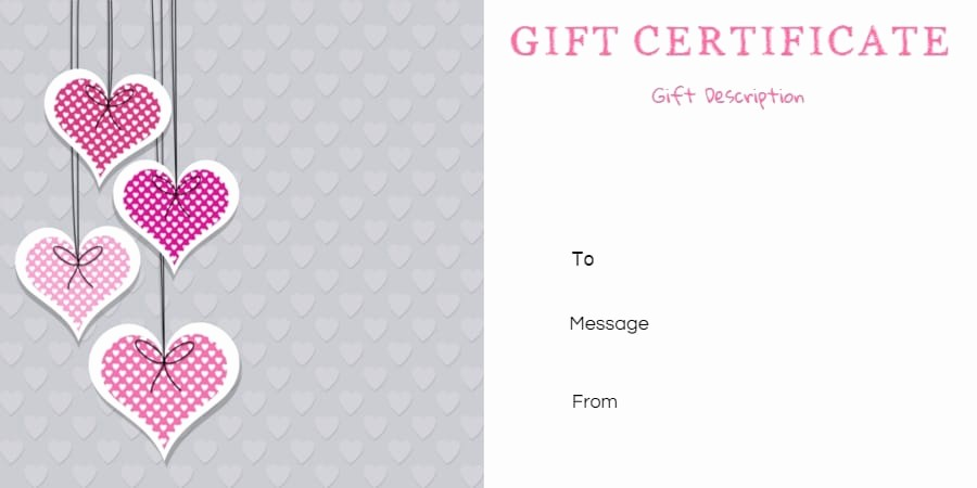 Gift Certificate Samples Free Templates Lovely Free Printable Anniversary Gift Vouchers Customize Line