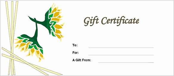 Gift Certificate Template for Mac Awesome Gift Certificate Template – 34 Free Word Outlook Pdf