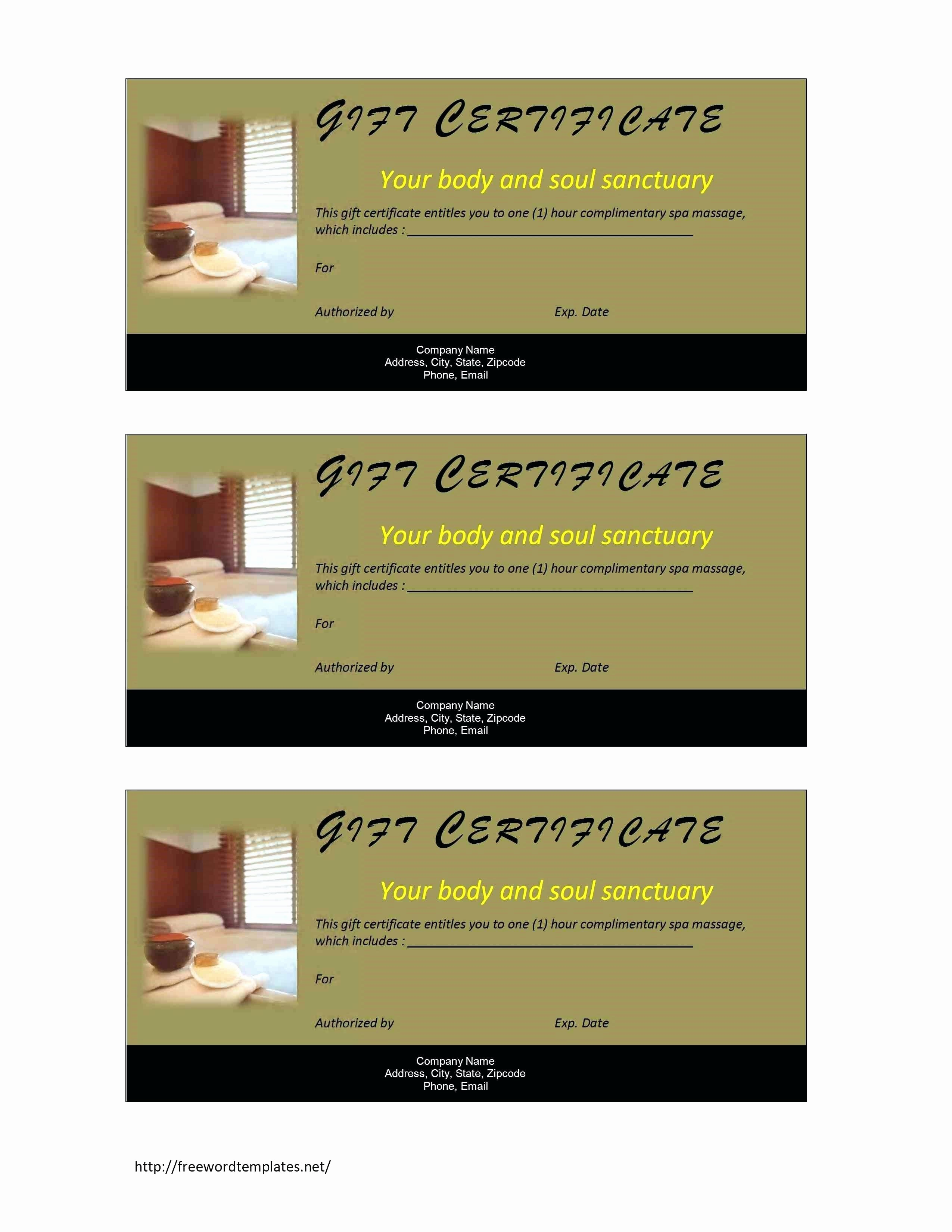 Gift Certificate Template for Mac Awesome Template Certificate Template for Mac
